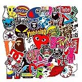 NEULEBEN Trend Stickers (101 stuks), Supreme laptop vinyl stickers voor waterfles, drinkfles, snowboard, bagage, motorfiets, iPhone, MacBook, muur, DIY Party Supplies Patches Decal