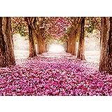 Vlies Fototapete PREMIUM PLUS Wand Foto Tapete Wand Bild Vliestapete - Allee Bäume Blüten - no. 1572, Größe:416x254cm Vlies