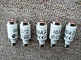 5x DL-Sicherung E16, Keramik 10A, Plattenbau