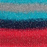 RICO CREATIVE reflektierende Wolle GLÜHWÜRMCHEN PRINT Fb. 02 BLAU-ROT, Mützenwolle, Wolle reflektierend