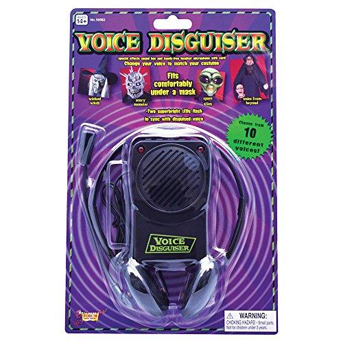 Bristol Novelty GJ346 Voice Changer und Kopfbügelmikrofon, Schwarz, unisex - erwachsene, - Genial Halloween Kostüm