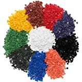 KurtzyTM 1200 Botones de Presión Plásticos Coloridos T5- Blanco, Azul, Rosa, Negro