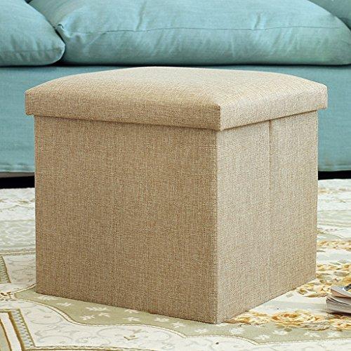 LinLiQiao- Baumwolle und Leinen Lagerung Stuhl Hocker sitzen Erwachsenen Sofa Stuhl Haushalt Tuch Spielzeug Aufbewahrungsbox Mehrzweck-Schuh-Bank (Farbe : Beige) (Kinder-schlafzimmer-lagerung-bank)