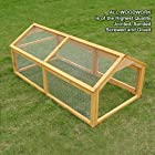 LARGE DOUBLE 1.4m RABBIT RUN GUINEA PIG PEN – IDEAL TO ATTACH TO A RABBIT HUTCH (RUN 1.4m)