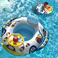RUTUZ Baby Swimming Seat Tube Inflatable Float Seat for Kids Toddler Infant Safety Seat Boat Swimming Tube Pool Swimming…