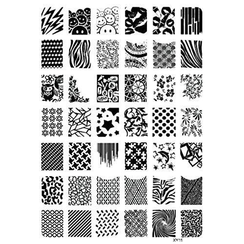 Republe Nail Stamping Plates Halloween-Nagel-Kunst-Stempel-Schablone Geist-Schläger Blumen Bild Stempelplatte