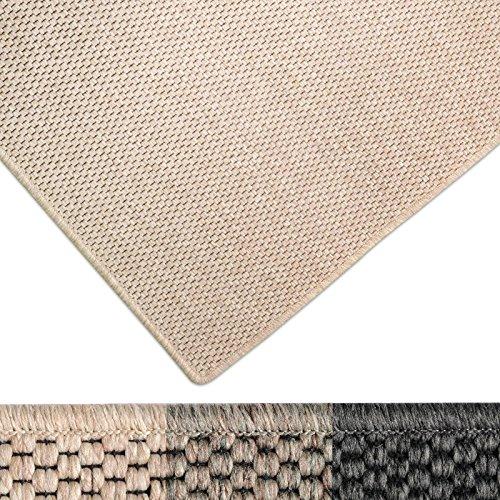 casa pura Moderner Teppich in Premium Sisal Optik | ausgezeichnet mit GUT-Siegel | pflegeleichtes Flachgewebe | viele Größen (beige, 200x240 cm)