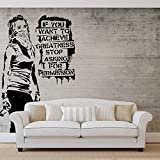 Banksy Graffiti Betonwand - Forwall - Fototapete - Tapete - Fotomural - Mural Wandbild - (2899WM) - XL - 208cm x 146cm - VLIES (EasyInstall) - 2 Pieces