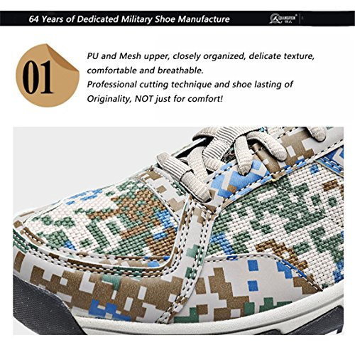 Scarpa da outdoor militare scarpe lace-up camo escursionismo Low Rise Camo