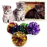 Kofun Kinderkrankheiten Spielzeug Bälle Knochen für Haustier Hund Kätzchen Katze Durable Flossy Pull Plüsch Bright Papier Ball 1 Stück Farben nach dem Zufallsprinzip