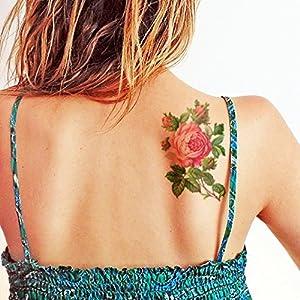 Große Schöne Vintage Rose – Temporäres Tattoo