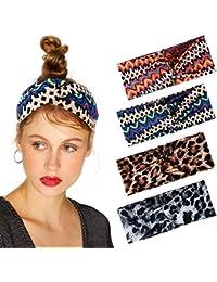 Xuniu Niedlichen Kaninchen Ohr Band Stirnband Metalldraht Leopardenmuster Haarband F/ür Frauen M/ädchen # 1