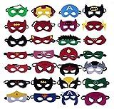 BUWANT Superheroes Party Masks para niños-28 Piezas Cosplay Character Felt Eye Masks