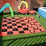 Giant Garten-Zugluft (im Play Matte mit aufblasbarer Chequers/Checkers)