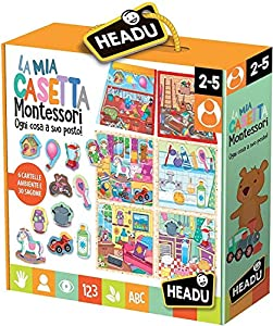 Headu IT20454 Juego La mia casa Montessori, multicolor