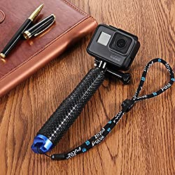 GoPro bastone estensibile selfie, Puluz® - pole portatile, impermeabile telescopico monopiede regolabile, supporto della macchina fotografica per tutte le telecamere edizione eroe