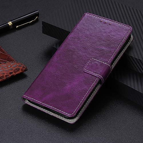 BELLA BEAR Case für Cubot X19,Leder Brieftasche Geldbörse Halterung Funktion Weichem PU Material Phone Case Cover for Cubot X19(Lila)