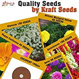 #7: Kraft Seeds 5 in One Flower Alyssum,Poppy California,Marigold Yellow, Antirrhinum,Aster, 370+ Seeds With 100Gm Cocopeat in This Diwali Special Pack By Kraft Seeds