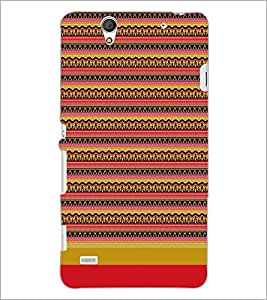PrintDhaba Tribal pattern D-1868 Back Case Cover for SONY XPERIA C4 (Multi-Coloured)