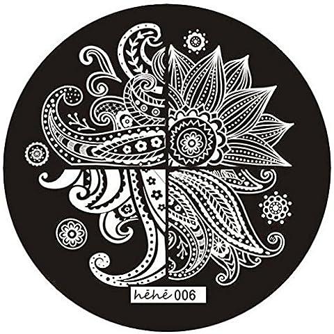 Fortan Carino modello Nail Art Timbro immagine Piastre Stampaggio manicure Modello 006 - Airbrush Della Vernice Template