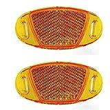 Reflex Riflettori catadiottrici per i raggi della ruota della bicicletta, arancione 3328