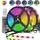 LED Strip, Parti 10M(2x5M) RGB LED Streifen IP65 Wasserdicht mit Netzteil 44-Tasten IR Fernbedienung...