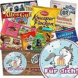 Für Dich (mit Einhorn) | Schokoladen Paket | Geschenk Ideen | Für Dich (mit Einhorn) | Schokoladenbox | Geschenk nur für Dich | INKL DDR Kochbuch