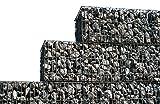 4-er Set Gabionen 100 x 100 x 30 cm Steinkorb Sichtschutz Gitterkorb Garten Deko Zaun verzinkt