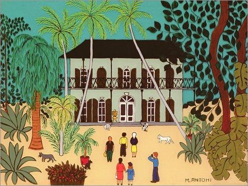 Poster 80 x 60 cm: Hemingway's House, Key West, Florida von Micaela Antohi/Bridgeman Images -...