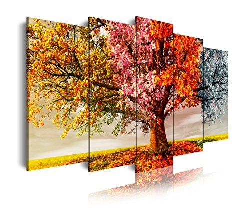 DekoArte 401 - Cuadro moderno lienzo 5 piezas paisaje