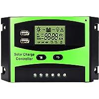 Régulateur de panneau solaire MOHOO Régulateur de charge solaire intelligent 12V / 24V LCD