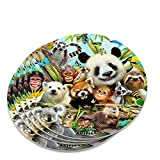 Animal Buddies Selfie Panda Eisbär Faultier Lemur Toucan Neuheit Untersetzer Set