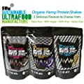 Protein Shake - Organic Hemp - 500g - Vegan - Gluten Free - Dairy Free - GMO Free - Sum Be Vegan Hero - Various Flavours