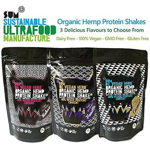 Protein Shake - Organic Hemp - 500g - Vegan -