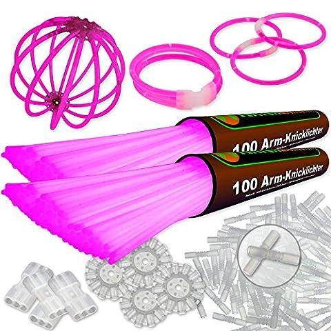 200 bracelets lumineux fluo ROSE note du testeur : 1,4
