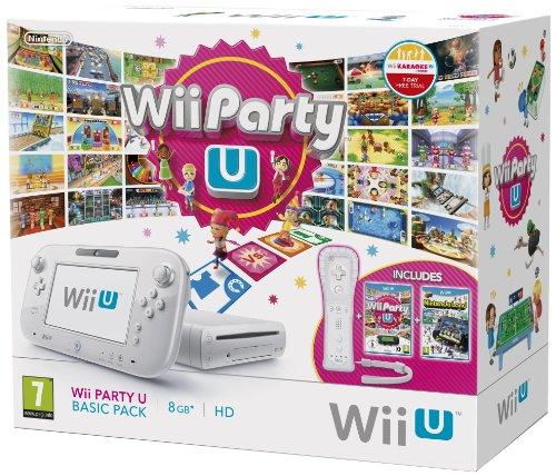 Wii U Basic Pack 8GB Wii Party U-Pack mit Wii-Fernbedienung Plus, Sensor Bar und Nintendo Land - Weiß