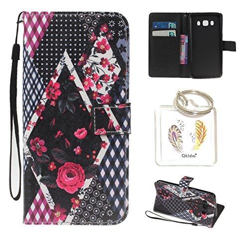 Preisvergleich Produktbild für Galaxy J5 2016 J510FN PU Silikon Schutzhülle Handyhülle Painted pc case cover hülle Handy-Fall-Haut Shell Abdeckungen für Smartphone Samsung Galaxy J5 2016 J510FN + Schlüsselanhänger (/L) (3)