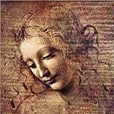 Stampa su Tela 30 x 30 cm: The Tousled (La Scapigliata) di Leonardo da Vinci - Poster Pronti, Foto su Telaio, Foto su…