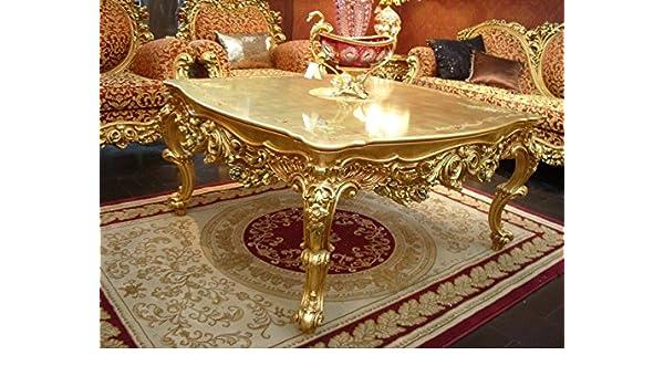 Tavolino da salotto barocco cornice oro antico stile vp0838