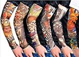 Sunnior Stretch Nylon falsches Tattoo-Kit der Arm-Manschetten (6er Set) B