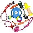 WeFine Giochi Cane,Corda Cane Resistenti Giochi per Cani Grandi Giochi Cane Cucciolo Set Giochi Cane 10 Pezzi