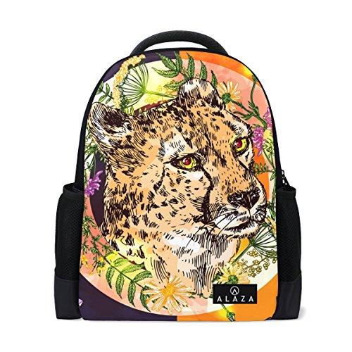 My Daily Tropical Cheetah Boho Stil Rucksack 35,6cm Laptop Daypack Schultasche für Reisen College Schule