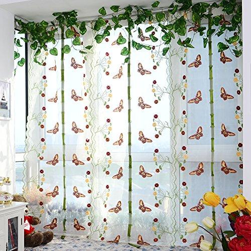 Handfly Rideaux Transparents Romans Rideaux Chambre Rideaux Fils Rideaux Fenêtre Salon Balcon, 80 × 150 cm / 31,5 × 59,1 Pouces