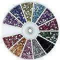 Nail Art Rhinestone Pack 1200 Premium Quality Gemstones - Rhinestone Deco With Wheel