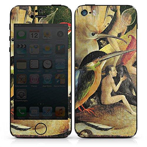 Apple iPhone 5 Case Skin Sticker aus Vinyl-Folie Aufkleber Hieronymus Bosch Der Garten der Lüste Kunst DesignSkins® glänzend
