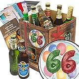 Geschenke zum 66. | Bier Box | Biere der Welt Geschenkbox | 66-Geburtstag lustige Geschenke | INKL 6 Geschenkkarten + Umschläge + Bierbewertungsbogen + 3x Urkunde