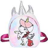 Zerodis Kinder niedlichen Plüsch Rucksack flauschige Schulter Schule Reisetaschen Cartoon Einhorn für Baby Kinder Mädchen(Reg