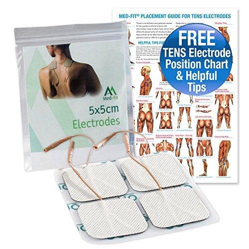 Preisvergleich Produktbild Med Fit 1 Tens Electrodes - 5x5cm Self Adhesive electrodes pads for Tens Machines by Medfit