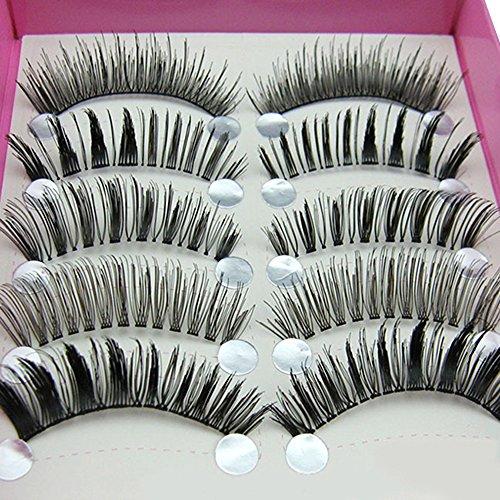 Sanwood® 5 Paar lange Wimpern falsche Augenwimpern schwarze Wimpernverlängerung