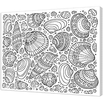 Pintcolor 7166.0/Frame with Printed Canvas Colouring 50/x 40/x 3.5/cm Black//White Fir Wood//Cotton